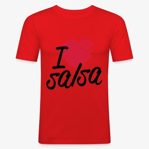 i love salsa2 - T-shirt près du corps Homme