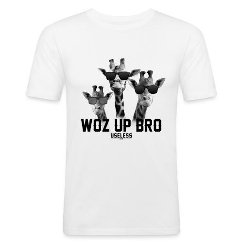 Shirt WozUpBro - Männer Slim Fit T-Shirt