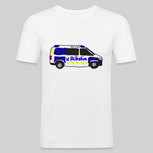 poliisiauto - Miesten tyköistuva t-paita