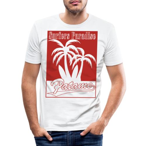 Patame Surfers Paradise Red - Männer Slim Fit T-Shirt