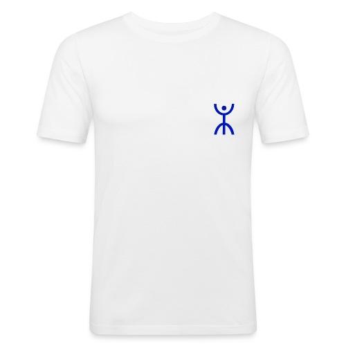 énana bleu - T-shirt près du corps Homme