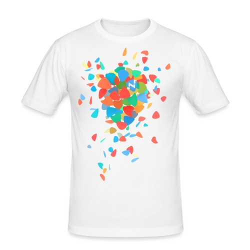 Guitar Pick Explosion - Men's Slim Fit T-Shirt