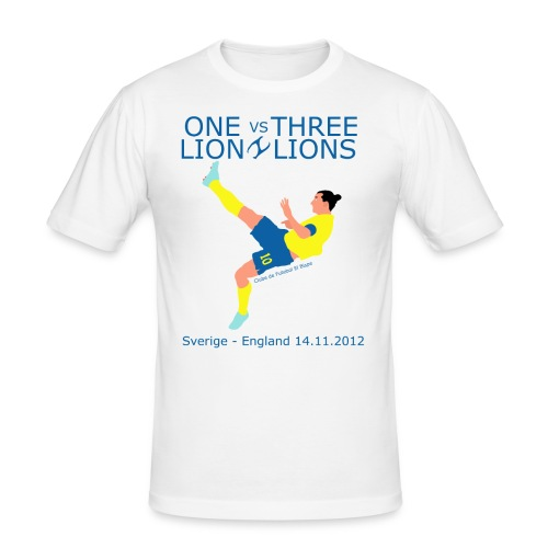 One Lion vs Three Lions - Herre Slim Fit T-Shirt