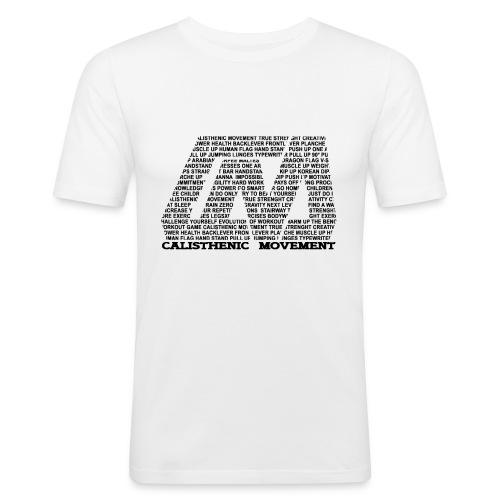 CM Logo aus Text schwarz - Männer Slim Fit T-Shirt