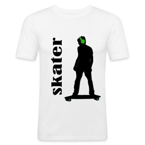 skater green copia - Camiseta ajustada hombre