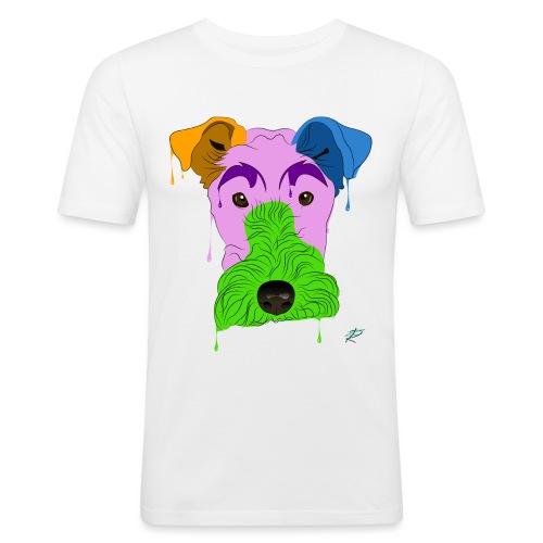 Fox Terrier - Maglietta aderente da uomo
