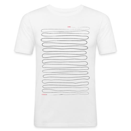 viivapaita - Miesten tyköistuva t-paita