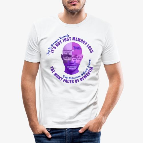 The Many Faces of Dementia - Men's Slim Fit T-Shirt