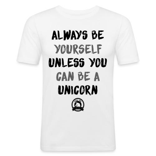 Unicorn Shirt - Männer Slim Fit T-Shirt