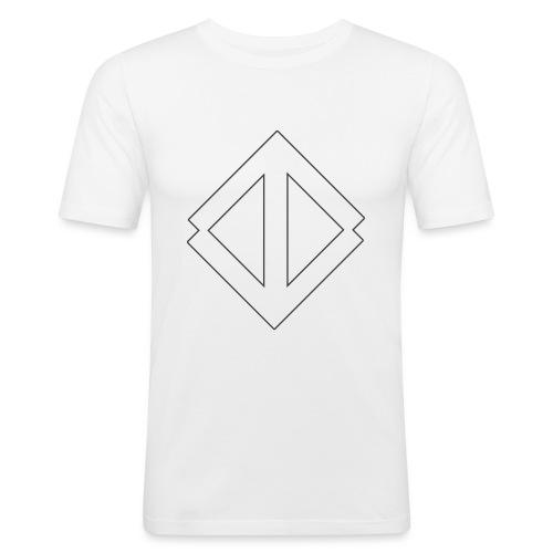 Big White Logo - Slim Fit T-shirt herr
