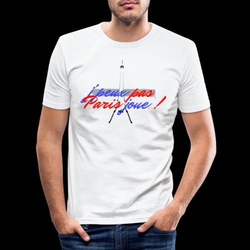j'peux pas Paris joue - T-shirt près du corps Homme