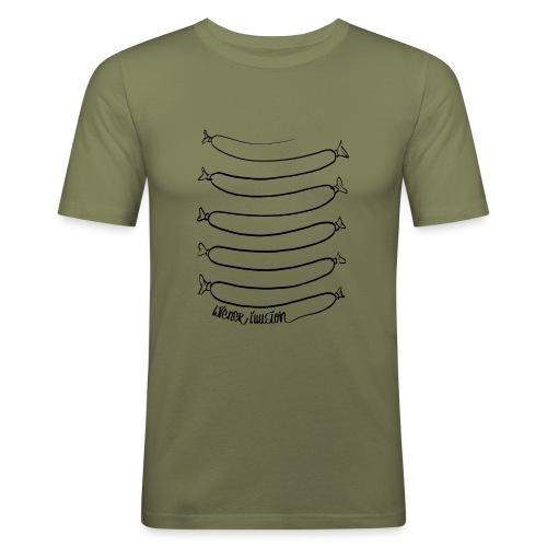 Wiener Illusion (schwarz auf weiß) - Männer Slim Fit T-Shirt
