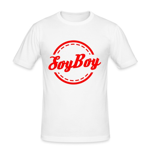 For Us Soy Boys Red - Men's Slim Fit T-Shirt