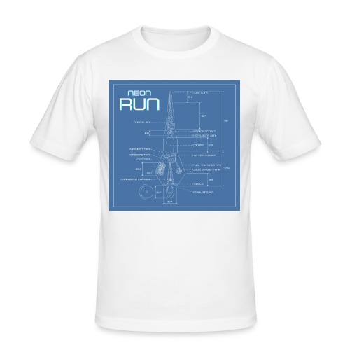 NeonRun blueprint - Mannen slim fit T-shirt