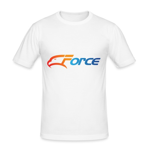 Force Orange/Blue - Slim Fit T-shirt herr