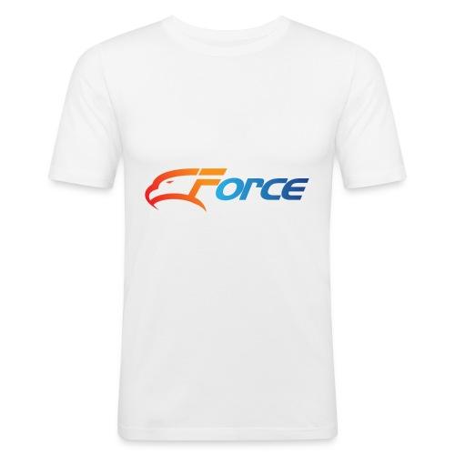 Force Orange/Blue - Slim Fit T-shirt herr