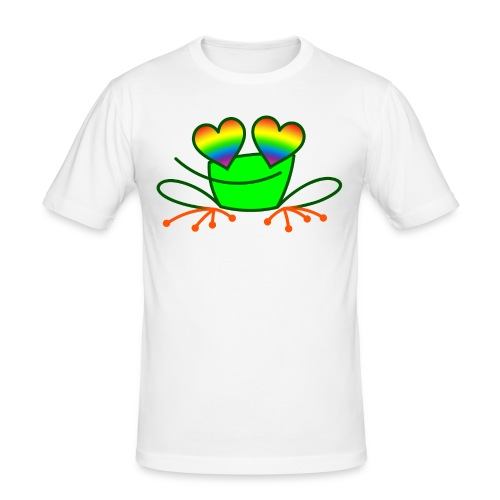 Pride Frog in Love - Men's Slim Fit T-Shirt