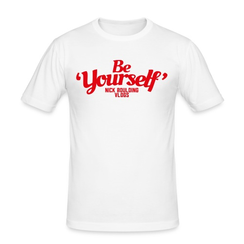 NickBeYourselfLogoMedium png - Men's Slim Fit T-Shirt