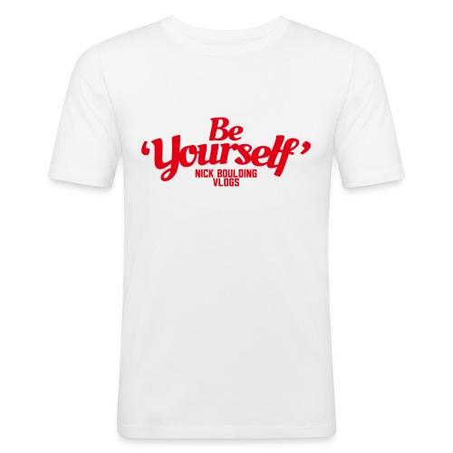 NickBeYourselfLogoMedium png - Men's Slim Fit T-Shirt
