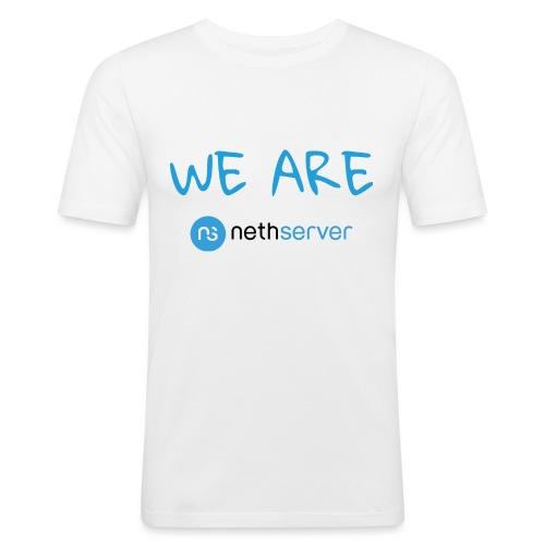 blue-black-rectangle - Men's Slim Fit T-Shirt