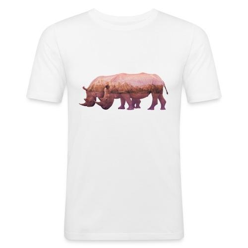 Nashorn Alpen - Männer Slim Fit T-Shirt