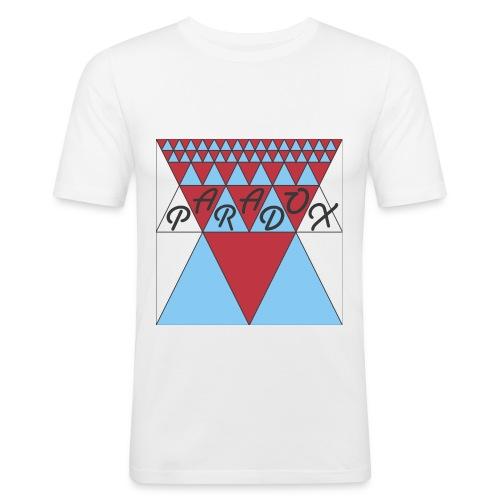 ParaAngle1 jpg - Mannen slim fit T-shirt