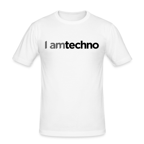 iamtechno logo 10 - Men's Slim Fit T-Shirt
