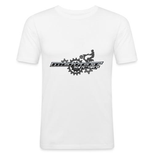 Motot net moporataslogo - Miesten tyköistuva t-paita
