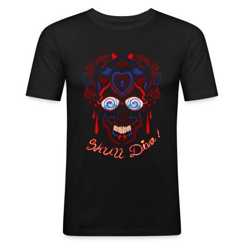 Skull Tattoo Art - Men's Slim Fit T-Shirt