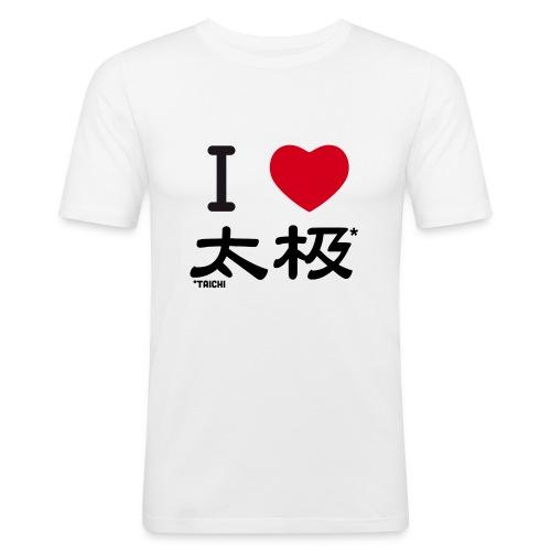 i love taichi - T-shirt près du corps Homme