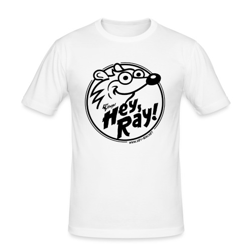Hey Ray Logo black - Männer Slim Fit T-Shirt
