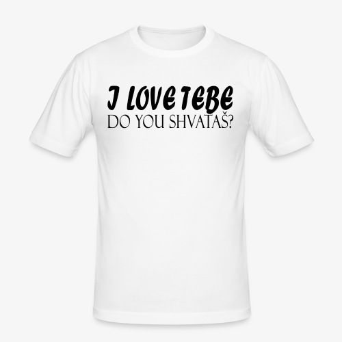 ilovetebe png - slim fit T-shirt