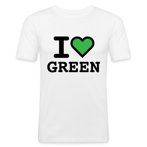 i-love-green-2.png - Maglietta aderente da uomo