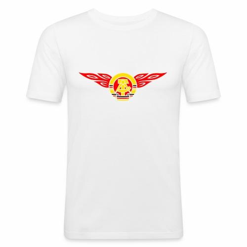 GDR flames crest 3c - Men's Slim Fit T-Shirt