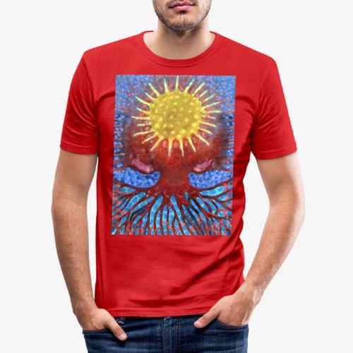 Niebiańskie Drzewo - Obcisła koszulka męska