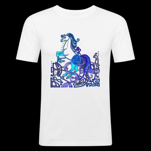 Celtic Horse Silver Blue - Men's Slim Fit T-Shirt