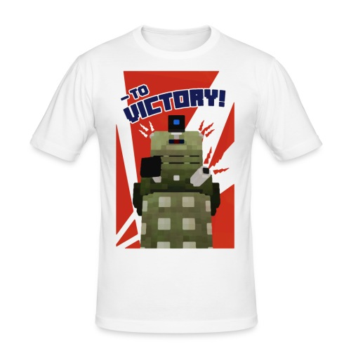 Dalek Mod - To Victory - Men's Slim Fit T-Shirt