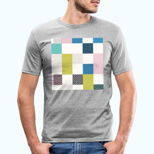 Abstract art squares - Men's Slim Fit T-Shirt