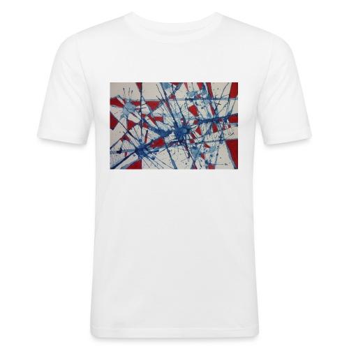 Watercolour Art Painting - Men's Slim Fit T-Shirt