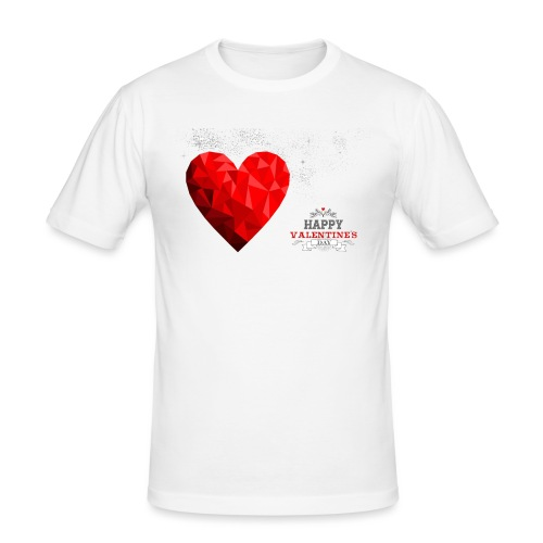 happy valentines day love - T-shirt près du corps Homme