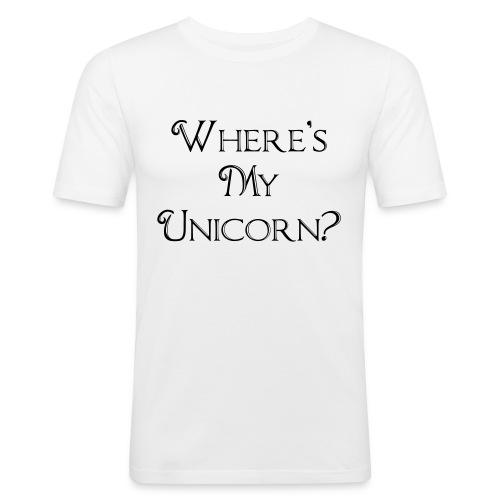 Where's My Unicorn - Men's Slim Fit T-Shirt