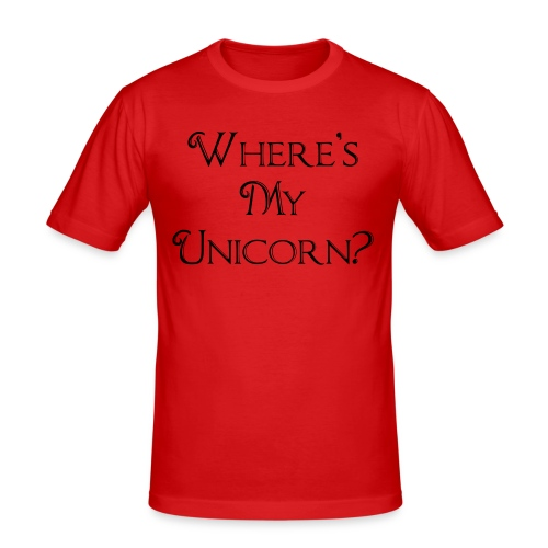 Where's My Unicorn - Men's Slim Fit T-Shirt