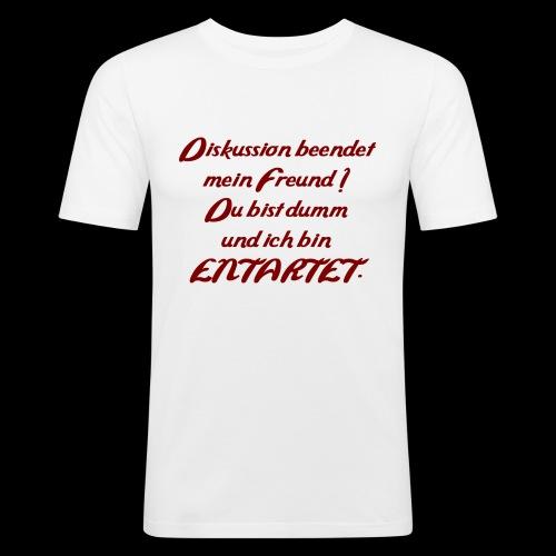 Diskussion_entartet - Männer Slim Fit T-Shirt