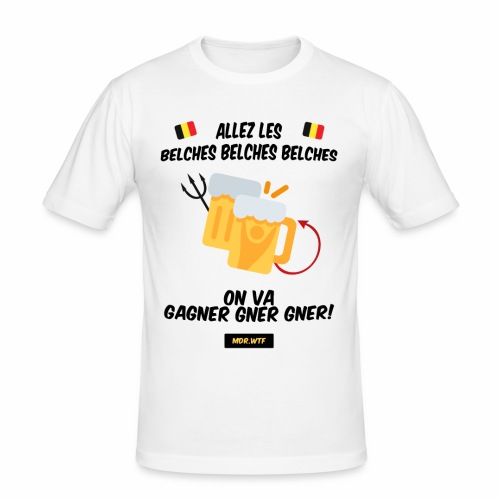 allez belge Par MDR.WTF - T-shirt près du corps Homme