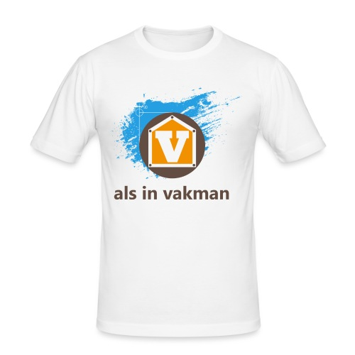V als in Vakman - Mannen slim fit T-shirt