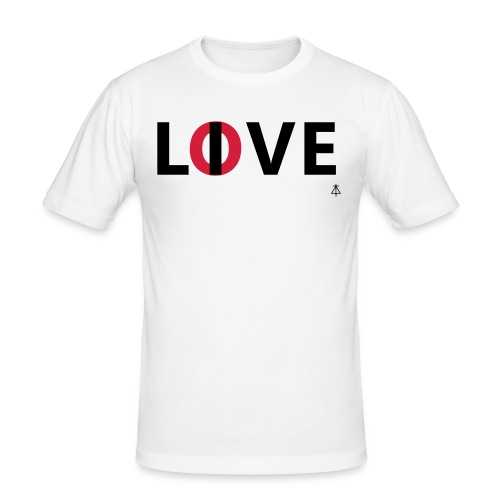 Love live - Mannen slim fit T-shirt