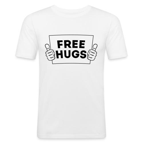 FREE HUGS! Daumen Hoch / Like Schild 1C - Männer Slim Fit T-Shirt