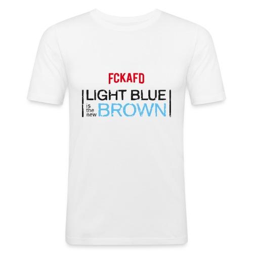 LIGHT BLUE IS THE NEW BROWN - Männer Slim Fit T-Shirt