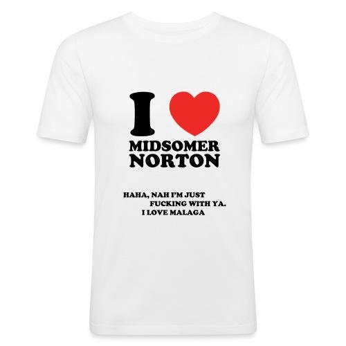 I Love Midsomer Norton - Men's Slim Fit T-Shirt