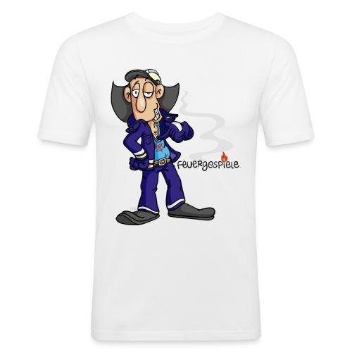 Feuergespiele Text schwarz - Männer Slim Fit T-Shirt